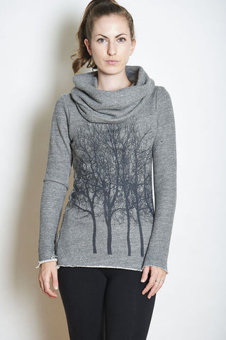 Wabi Sabi Sale Rose Gold Fairytale Trees Oatmeal Swing Sweater- with code is $75