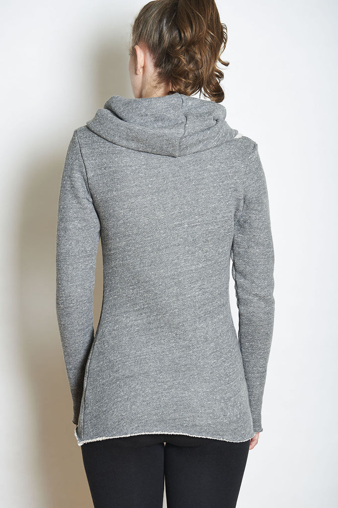 WABI SABI SALE Fairytale Trees Sweatshirt Cowl - White Trees/Burlap Color- price with discount is $81