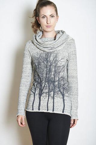 Fairytale Tree Fuzzy Lightweight Sweater-Pink Quartz -with discount code is $64.50