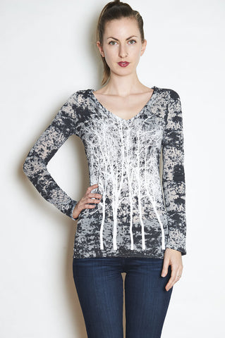 WABI SABI Field Cowl with White Print front and back  -with discount code is $42-new sizes