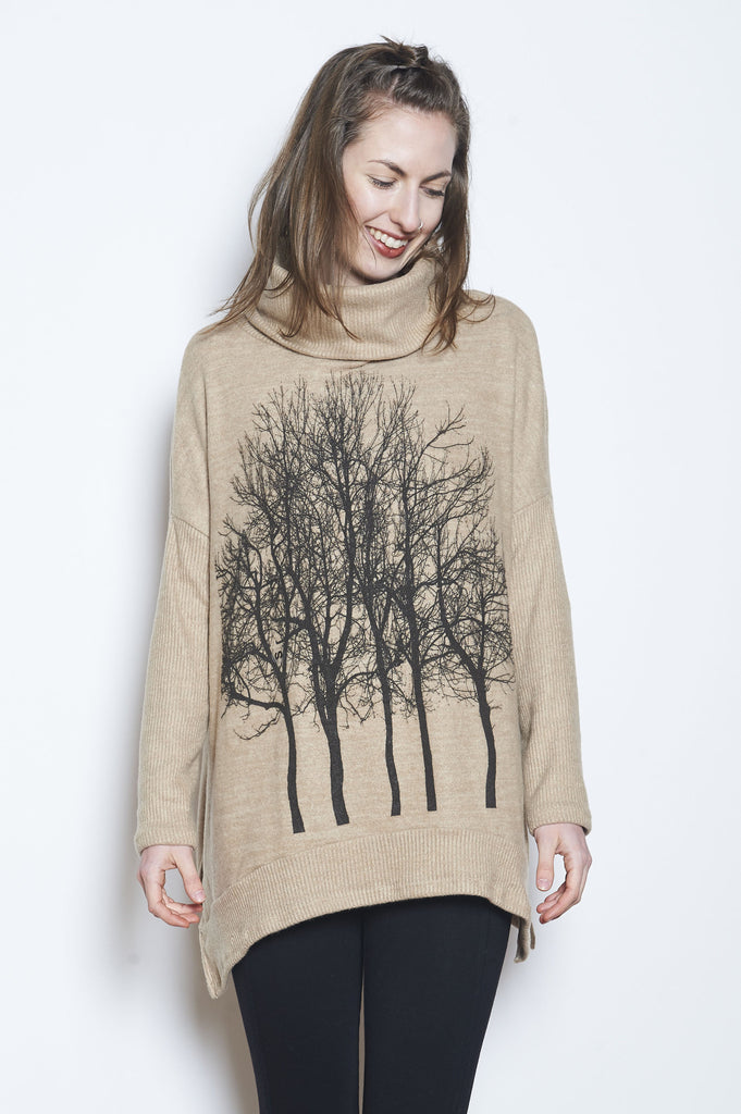 Fairytale Trees Poncho Chocolate - with code is $90