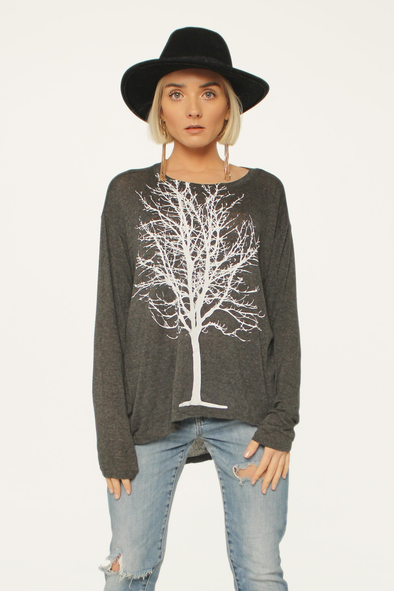 WABI SABI SALE Single Tree Boxy Long Sleeve Tee