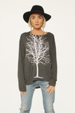Wabi Sabi Sale Single Tree Boxy Long Sleeve Tee-$43.50with code