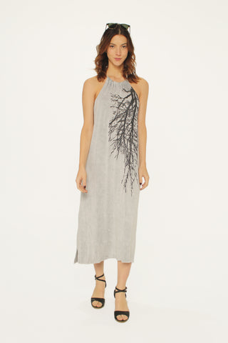 Fairytale Aline Tube Dress/Skirt- Heather Gray/Navy Stripe with code is 49.50