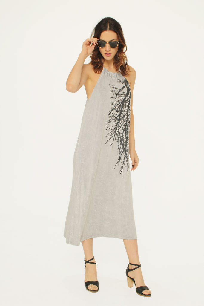 Big Branch Rope Dress Gray