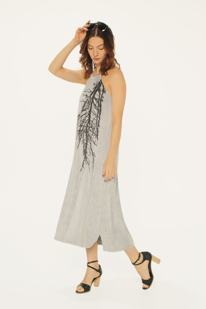 WABI SABI SALE Big Branch Rope Dress Gray-with discount code is $59.25