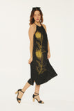 WABI SABI SALE Peacock Feather Rope Dress Black-with discount code is $69