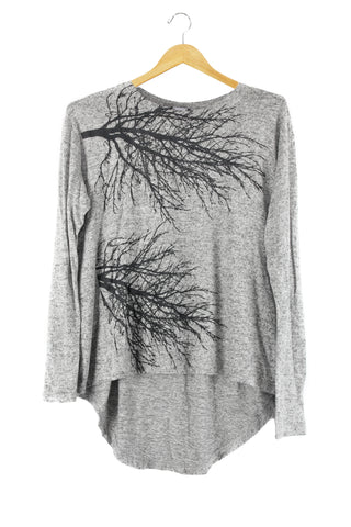 Fairytale Trees Sweatshirt Cowl Dark Grey- with code is $148.50