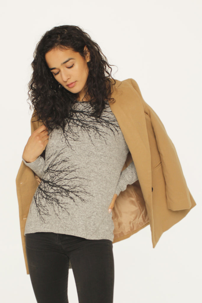 Two Trees Fuzzy Sweater