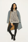 WABI SABI SALE Field Heather Gray Cowl Sweater-printed front and back- $51 with code!