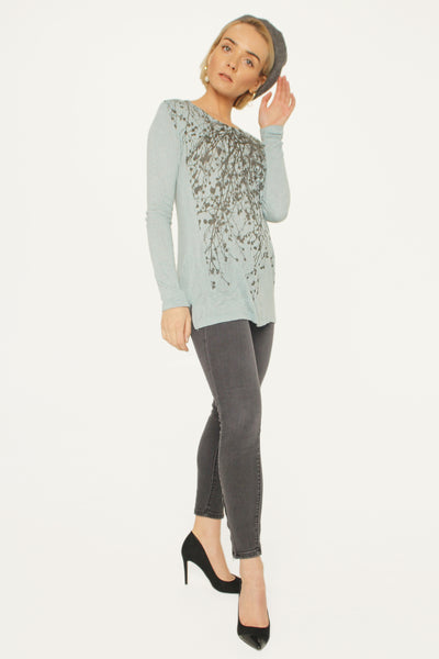 Wildflower Sea Salt Blue Long Sleeve Tee