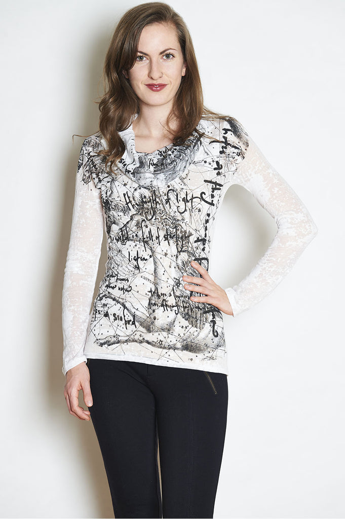 WABI SABI SALE Pegasus Long Sleeve Burnout Shirt: The Myth of Light Poem