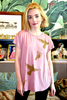 WABI SABI SALE Spinning Birds Shirt in Dusty Rose with Cross-Back-with discount code is $33