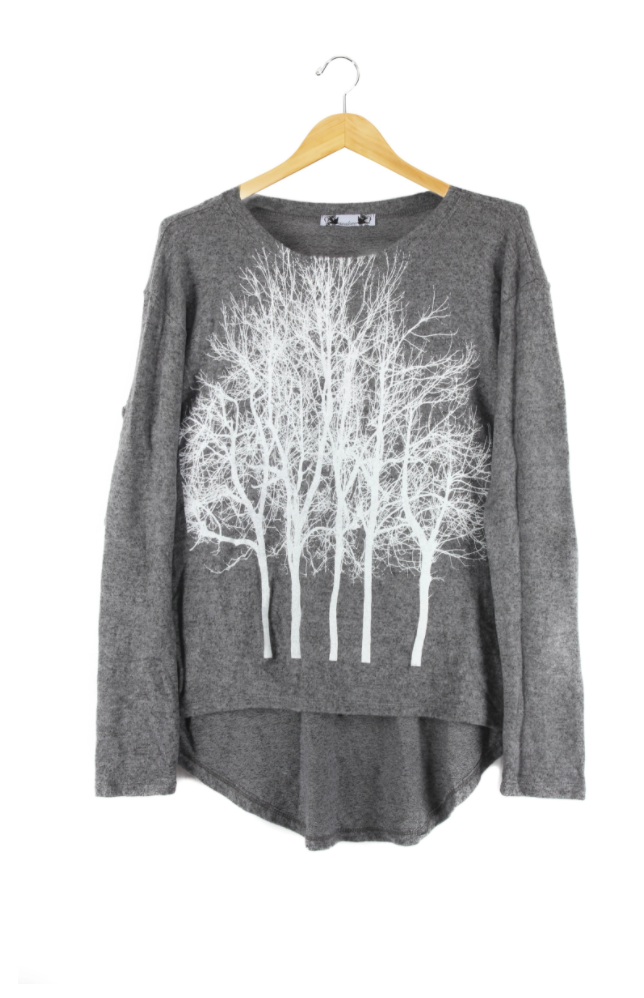 Fairytale Fuzzy Sweater-Gray- with code is $64.50