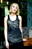 WABI SABI Two Tree Tank Black and Silver-with discount code is $24.00