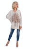 Wabi Sabi Sale Rose Gold Fairytale Trees Oatmeal Swing Sweater