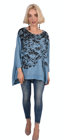 WABI SABI SALE Fairytale Vneck Tee -Iceberg-with code is $33-new sizes!