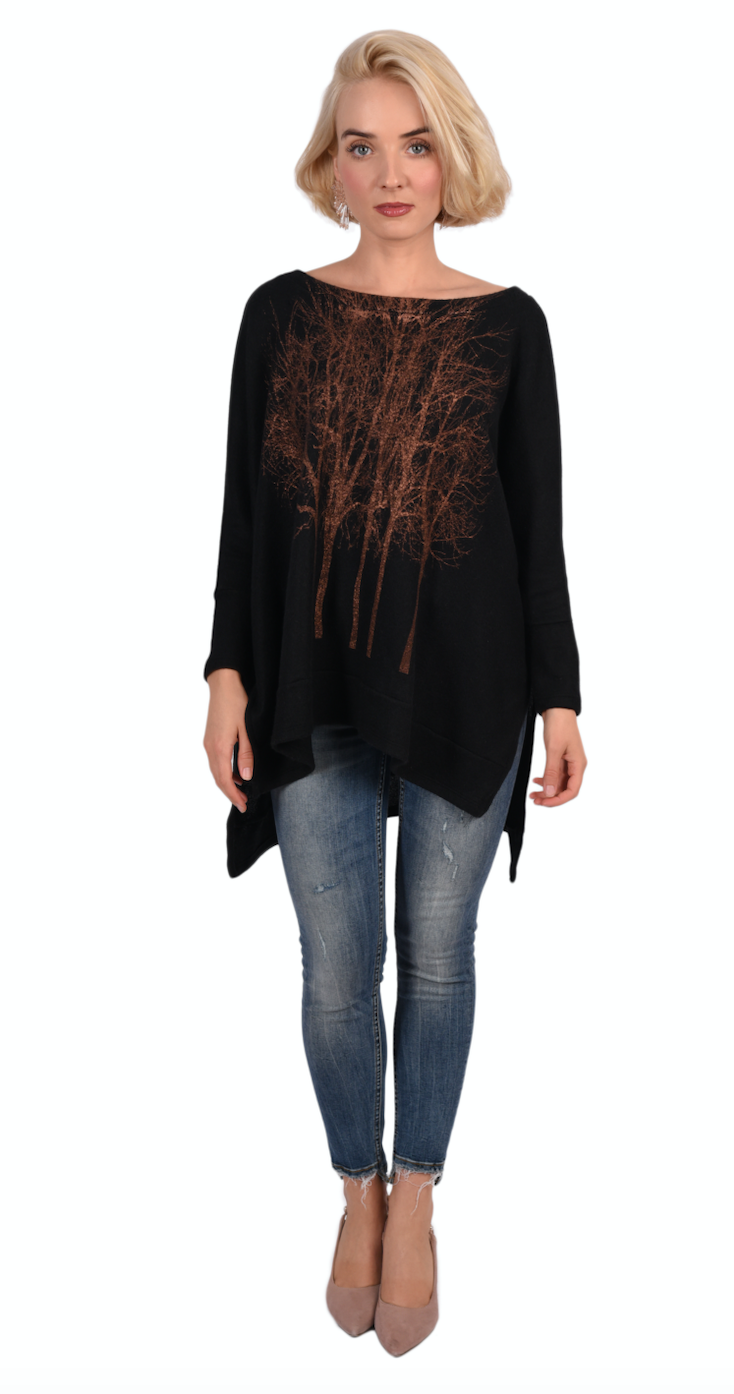 Copper Tree Fleece-Black