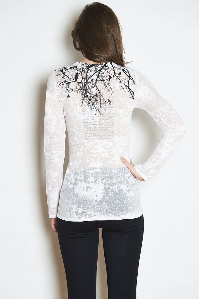 Tree Branch w/ Poem Long Sleeve Tee-with discount code is $24.75