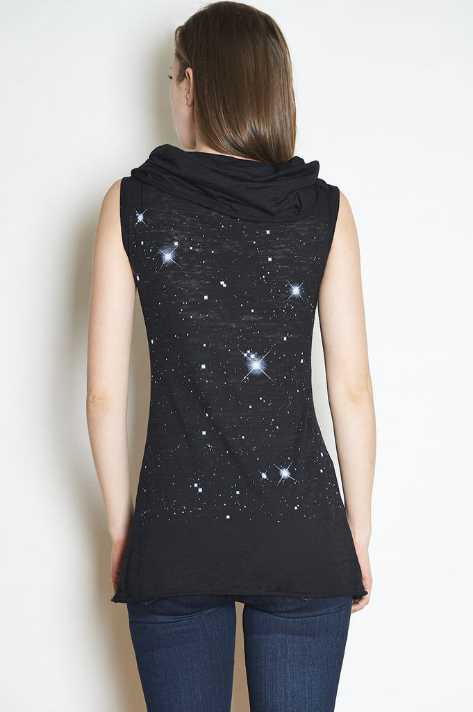 You Are The Universe Sleeveless Cowl Tunic