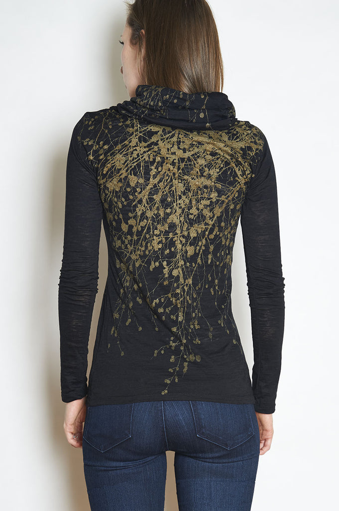 Copper Wildflower Long Sleeve Cowl Neck- with code is $88.50