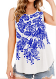 Water of Leaves Tank- Grecian Blue