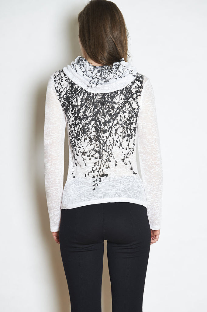 WABI SABI Wildflower Long Sleeve Burnout Cowl with code $96