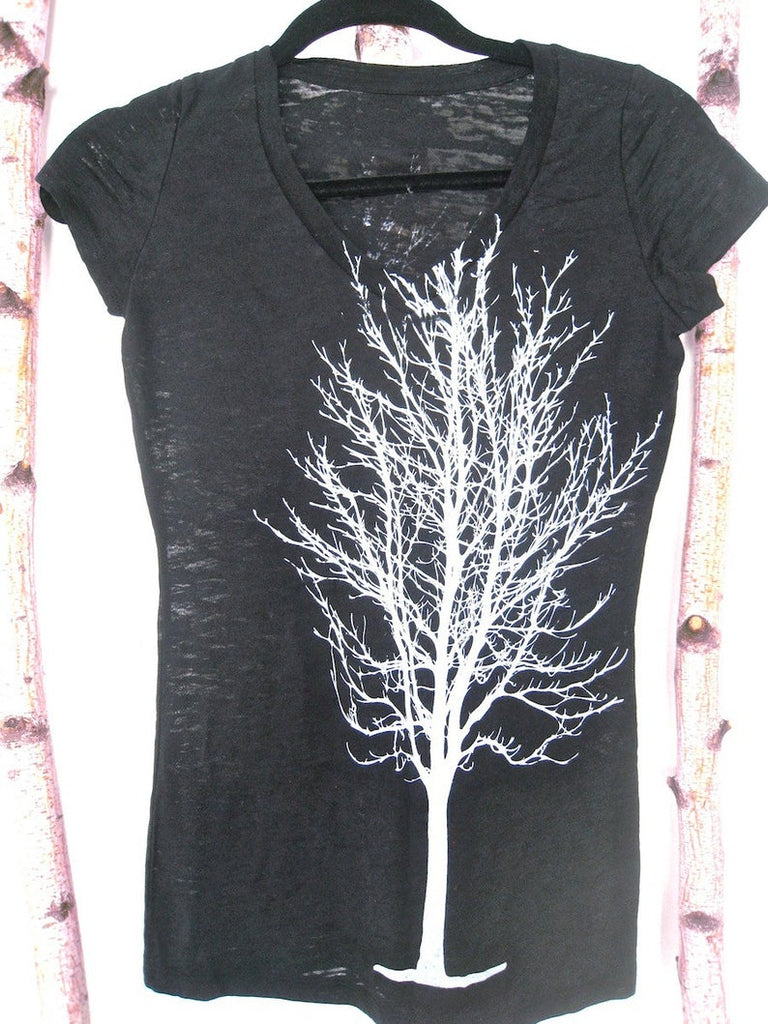 WABI SABI Single Tree Long Sleeve Burnout V-Neck Tee with code is $22.50