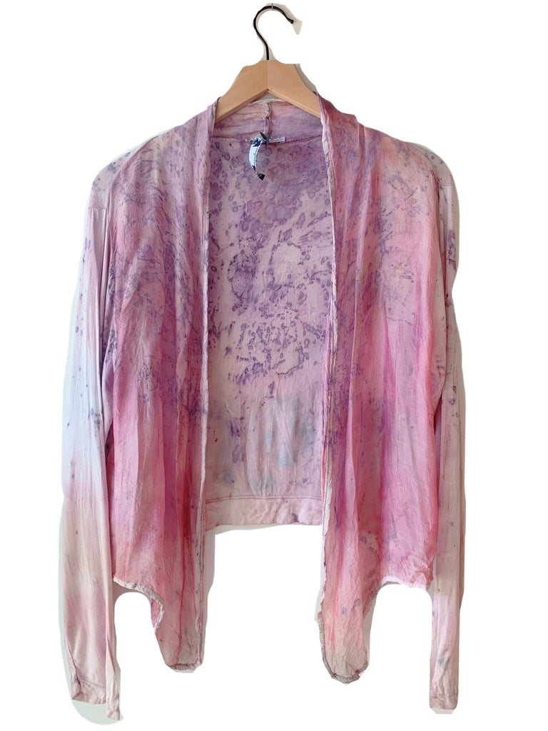 Flower Dyed Cardigan-Rose