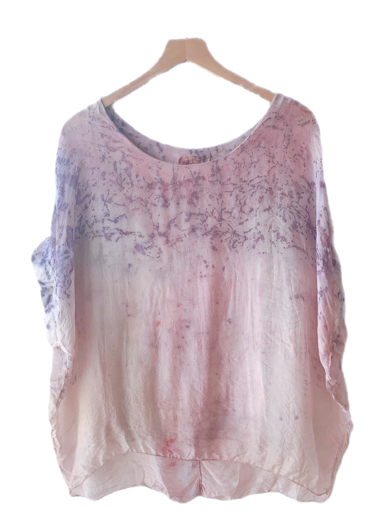 Flower Dyed Caftan Short : Pink Rose with code is $88.50