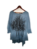 WABI SABI SALE Fairytale Tree Fleece-Blue