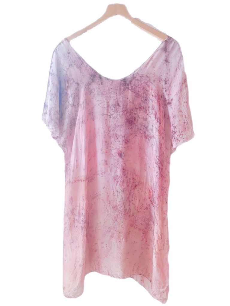 Flower Dyed Caftan Long  : Pink Rose with code is $98.50