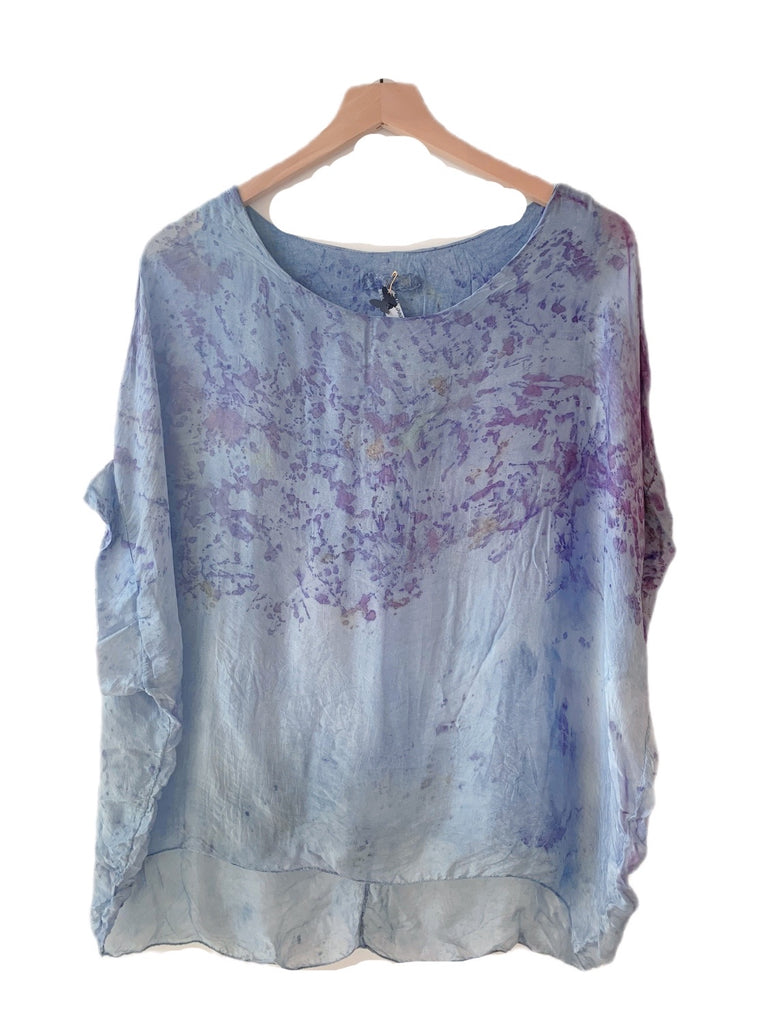 Flower Dyed Caftan Short :Rose + Indigo with code is $88.50