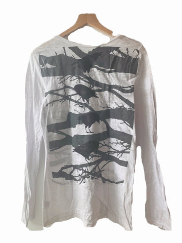 Fairytale Trees Fuzzy Sweater- Charcoal