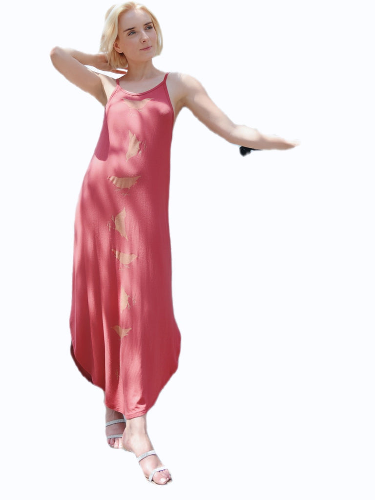 WABI SABI SALE Spinning Birds Dress Earth with discount code is $60.00