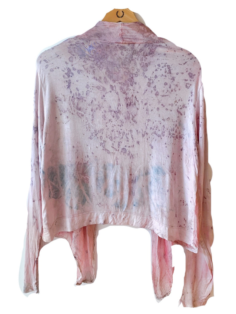 Flower Dyed Cardigan-Rose with code is $81