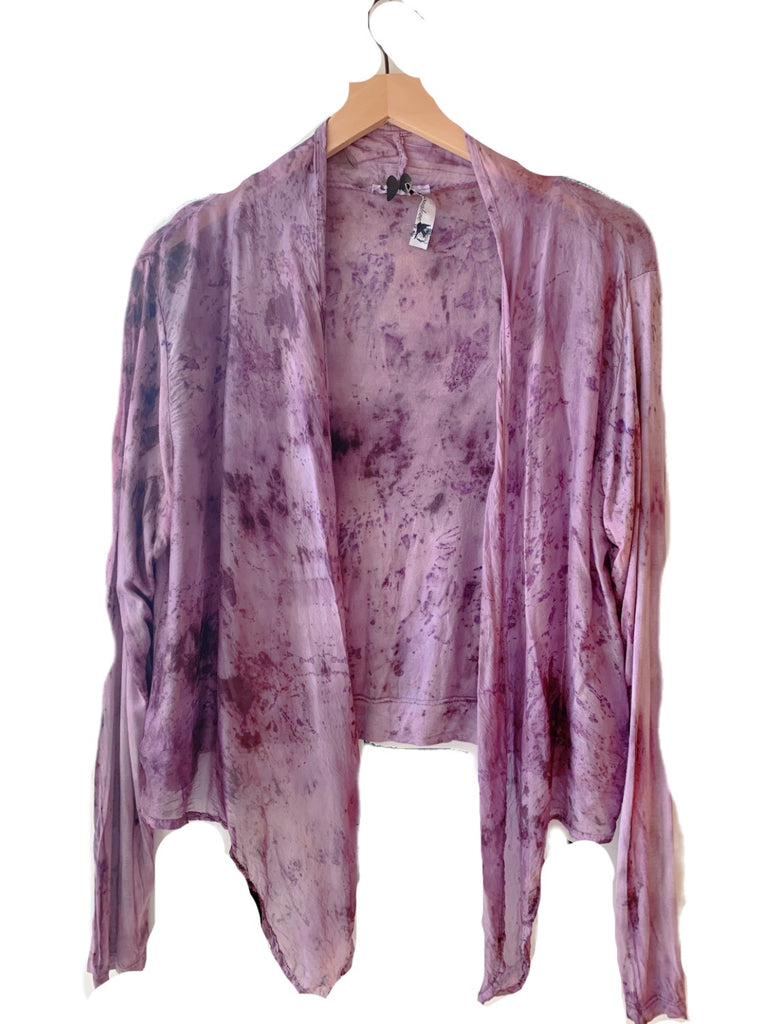 Flower Dyed Cardigan-Rose + Lac