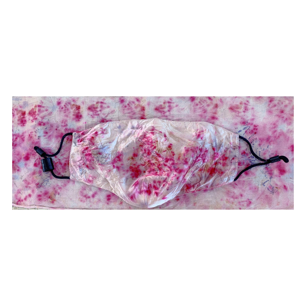 Flower Dyed Mulberry Silk Just Mask -Rose +Mycroban+ Stock