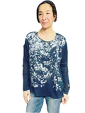 Shady Leaves Long Sleeve in Silver-with code is $43.50