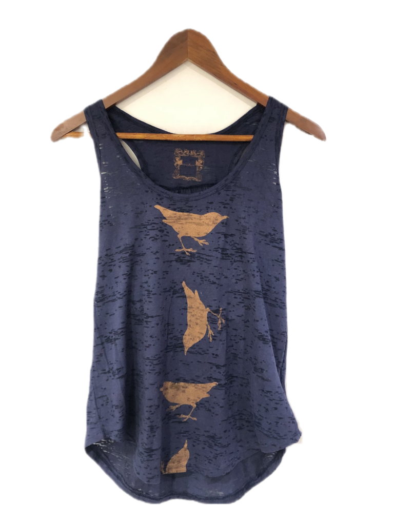 WABI SABI SALE Spinning Birds Tank - Navy-with discount code is $24.75