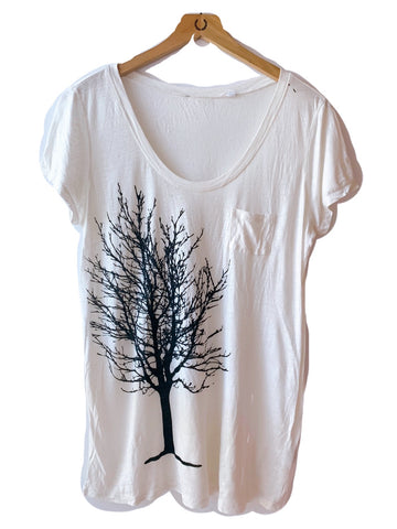WABI SABI SALE Fairytale Trees in Light Denim Blue with Cross-Back- with discount code is $33