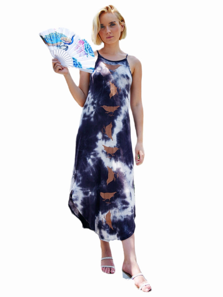WABI SABI SALE Spinning Birds Dress Tie Dye with discount code is $69.75