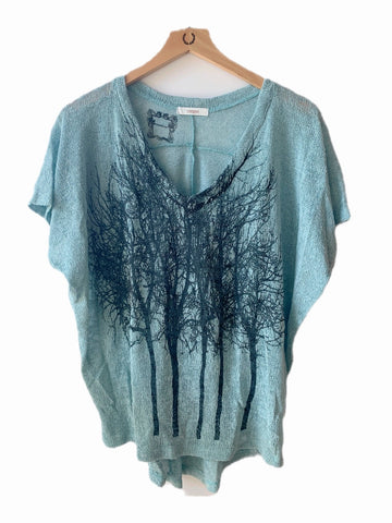WABI SABI SALE Spinning Birds Dress Tie Dye
