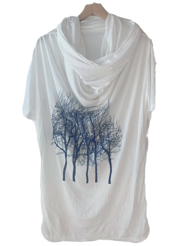 WABI SABI SALE Charcoal Tree in Sage Green Boxy Long Sleeve Tee