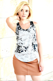 WABI SABI SALE Shady Leaves Tank-with discount code is $23.25