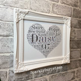 Heart Shape Design Shabby Chic Frame