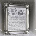 Christmas House Rules Design