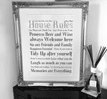 House Rules Design Extra Large Frame