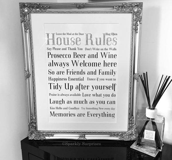 House Rules Design Extra Large Frame (46cm x 46cm)