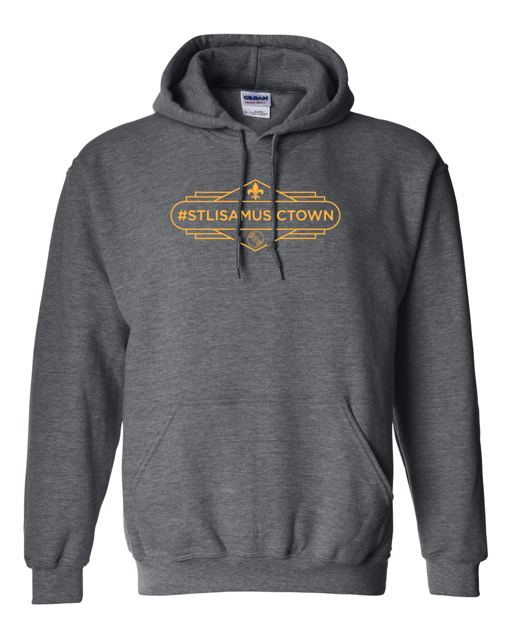 STL IS A MUSIC TOWN Gaslight Hoodie